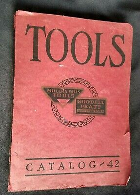 1938 Tool Catalog Millers Falls Co Greenfield MA Planes Precision Tools Drills