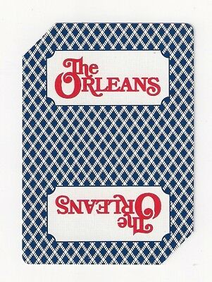 "Poker deck casino playing cards, used at ""The Orleans"", Las Vegas,Nevada, blue"