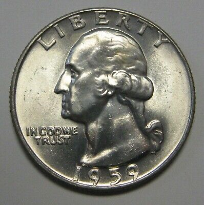 1959-D Washington Silver Quarter Grading in the Choice BU Range Priced Right