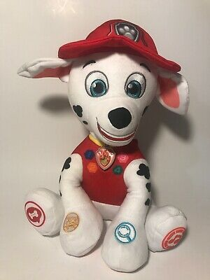 Paw Patrol Nickelodeon Official Plush Stuffed Animal Toy Dalmatian Firefighter