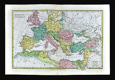 1818 Wilkinson Map Roman Empire Rome Italy Greece Egypt Palestine Britain Spain