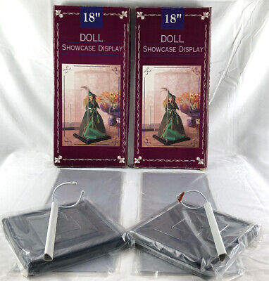 Doll Stands Display Holder Support Frame (Clear) X2 - In Box Like New Condition