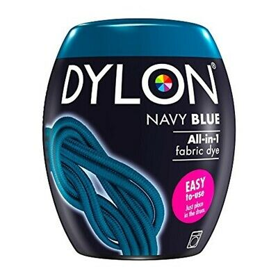 Dylon Machine Dye Pod, Navy Blue, Easy-to-use Fabric Colour For Laundry, 350g -