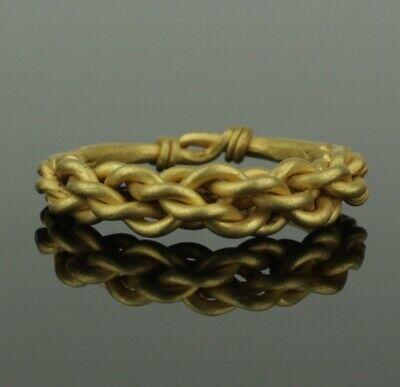 ANCIENT VIKING HEAVY BRAIDED GOLD RING - CIRCA 9th/10th CENTURY    (211)