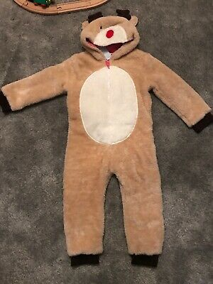 NEW Jojo Maman Bebe Christmas All-in-one Reindeer Outfit 3-4Yrs BNWT Boys Girls