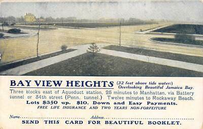 BROOKLYN, NY, BAY VIEW HEIGHTS LAND COMPANY ADV PC, LOTS FOR SALE c 1907-14