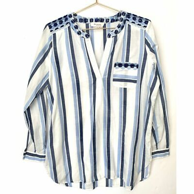 Vince Camuto Embroidered Stripe Tassel Poncho /& Swim Cover-Up One Size #2626