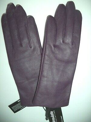 Ladies Thinsulate Leather Gloves*,Small, Purple