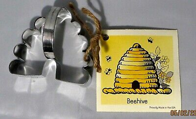 Ann Clark  BEEHIVE Tin Plated Steel Cookie Cutter W/Recipe  USA