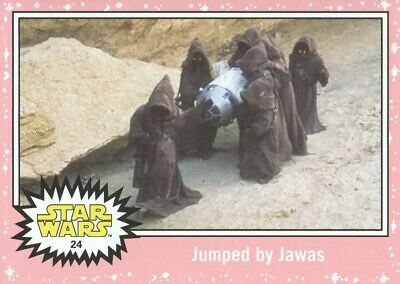 2015 Star Wars Journey to The Force Awakens Pink #24 Jumped by Jawas