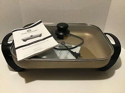 "Cook's Essentials 12 x 15"" Electric Skillet - Bronze"