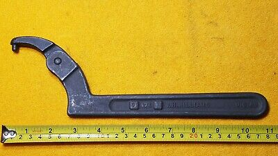 "Williams Tools 0-474 Adjustable Pin Spanner Wrench 2""-4&3/4"" Usa"