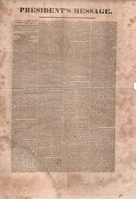 1828 JOHN QUINCY ADAMS Broadside STATE OF UNION New Bedford MASSACHUSETTS