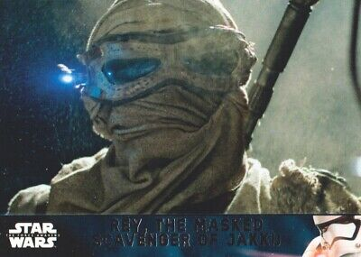 2016 Star Wars The Force Awakens Series 2 Card #22 Rey Masked Scavenger of Jakku
