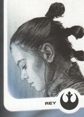 2017 Star Wars Journey to The Last Jedi Illustrated Characters #1 Rey