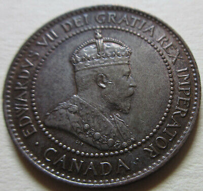 1905 Canada Large Cent Coin. EF++/AU RED NICE GRADE (C455)