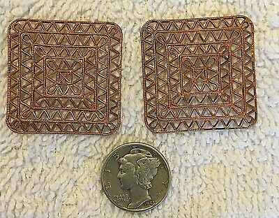 VINTAGE 1940/'S HAND MADE SILVER METAL 9MM CONCHO DESIGN STAMPINGS 14 PCS