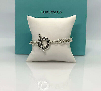 """Authentic-Tiffany & Co. Sterling silver Toggle Charm Bracelet 7"""""""