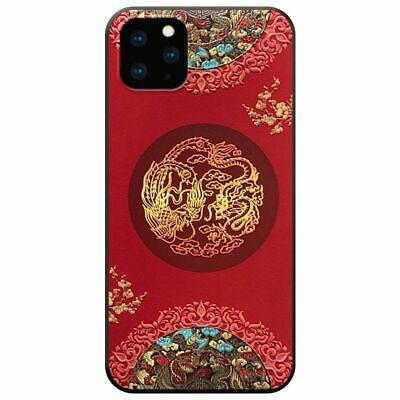 Chinese Style Retro Embossed Dragon Soft Case for iPhone 11 Pro Max X XR XS Max