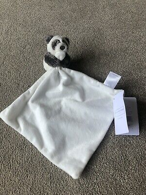 The Little White Company Unisex Panda Baby Comforter / Blankie BNWT NEW