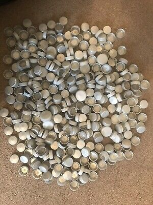 Silver Grey Plastic Bottle Tops Caps Lids For Arts Crafts