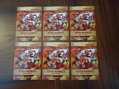 Pat Patrick Mahomes 6 Card Lot 2017 Gold Platinum Rookie Phenoms Limited to 2000