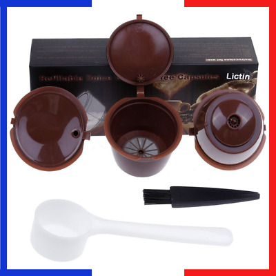 Lot 3 Filtre Capsule Cafe Reutilisables Compatibles Machines Nescafe Dolce Gusto