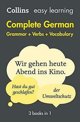 Easy Learning German Complete Grammar, Verbs and Vocabulary (3 books in 1) (Coll