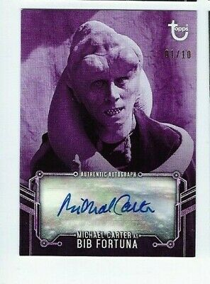 2020 Star Wars Black & White Return of the Jedi autograph Michael Carter 01/10