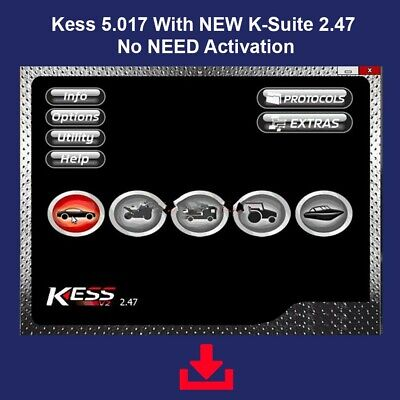 Kess 5.017 With NEW K-Suite 2.47 No NEED Activation tuning mapping obd22020