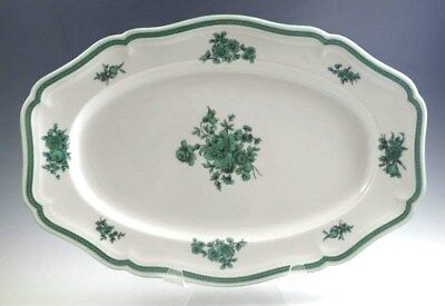 "Rosenthal Chippendale GREEN BLOOM 13"" Oval Platter EXC"