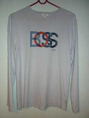Hugo Boss Boys Long Sleeved T-Shirt in Pale Blue - Age 16 years