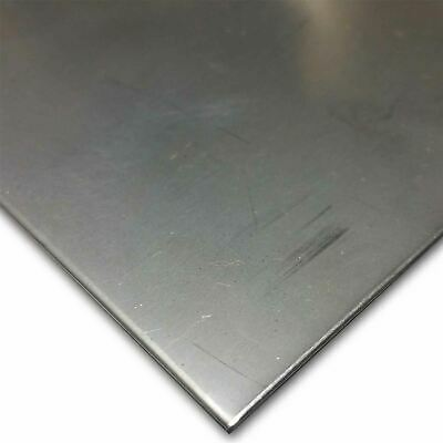 """304 (2B, Bright Cold Rolled) Stainless Steel Sheet 0.060"""" (16 ga.) x 12"""" x 24"""""""