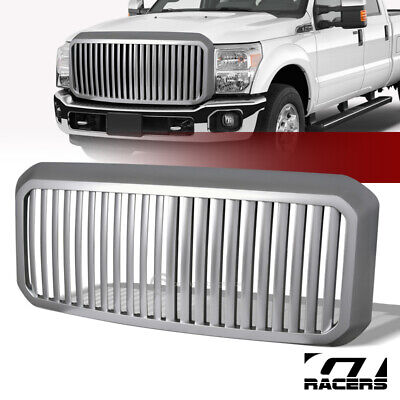 Sale For 2011-2016 Ford F250 F350 Super Duty Silver Vertical Front Bumper Grille