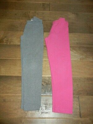 HANNA ANDERSSON lot of 2 pairs gray pink leggings, 130 (8)