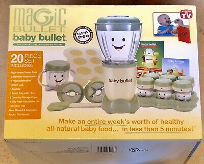 New Magic Bullet Baby Bullet Complete 20 Piece Food Blender Processor System