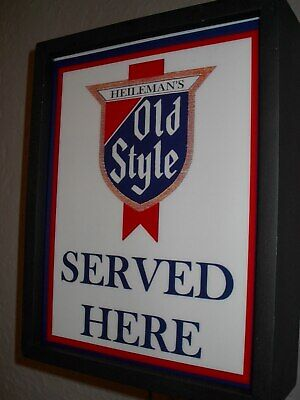 Old Style Chicago Beer Bar Tavern Man Cave Lighted Advertising Sign