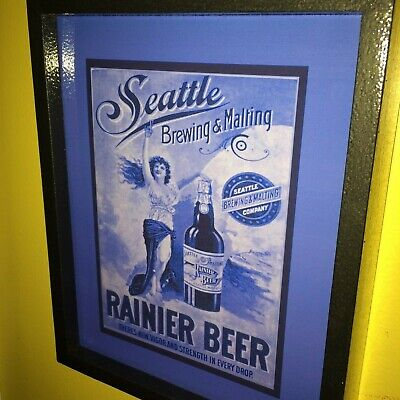 Rainier Seattle Beer Bar Tavern Man Cave Lighted Advertising Sign