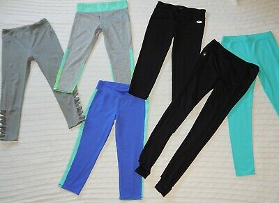 Danskin/Old Navy/Champion/Limeapple ― Girls 10/12 ― Lot of 6 Athletic Leggings