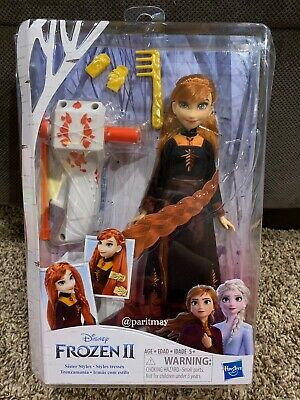 Disney Frozen 2: Sister Styles Anna  Doll with Automatic Hair Braiding Tool