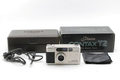 [Top Mint in Box] Contax T2 Limited Platin 35mm Point Shoot Film Camera Japan