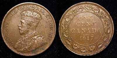CANADA 1917 Large Cent XF