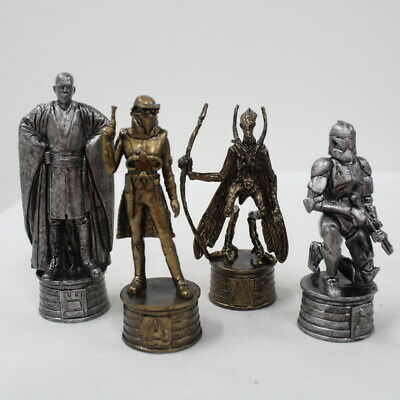 Star Wars Pewter & Bronze Effect Chess Set Attack Of The Clones #416