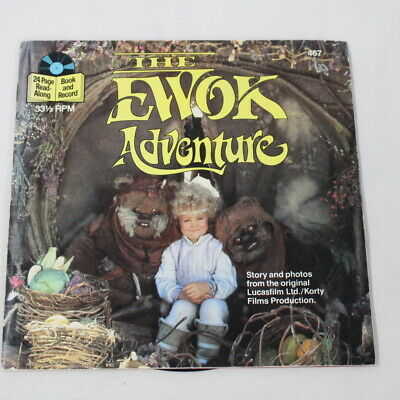 """Vintage """"THE EWOK ADVENTURE"""" 24 Page Book-33 1/3 RPM Record Paperback #416"""