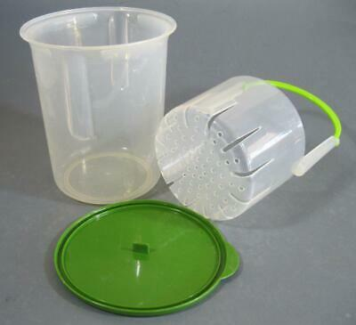 Green/clear beetroot server storer container -olives/pineapple