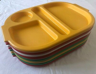 8 Hatfield School Nursery Canteen Picnic Camping Small Sectional Meal Food Tray