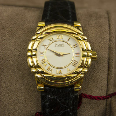 Piaget Tanagra solid18K Gold wristwatch + box + Papers SUPERB