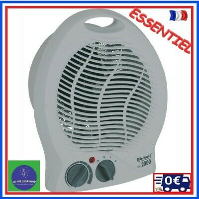Chauffage Radiateur Soufflant Mobile 2000W Thermostat Reglable Hiver Froid Gel