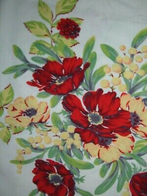 Vintage Wilendur Towel Red Poppy