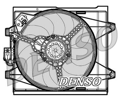 Denso DER09048 Engine Cooling Fan Replaces 51787116